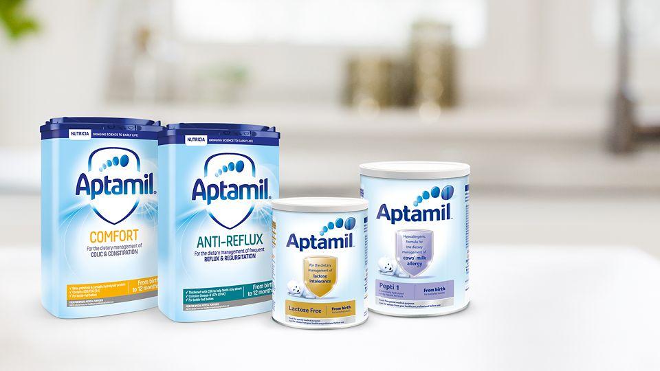 Aptamil™ Specialist Range – Anti Reflux, Comfort, and more