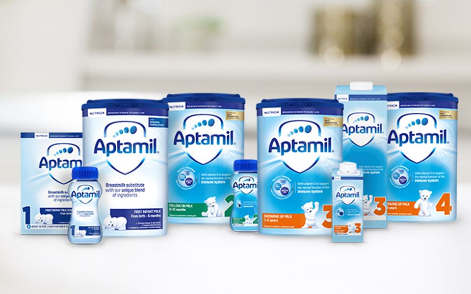 Aptamil™ Formula Milk - First, Follow On & Growing Up Milks